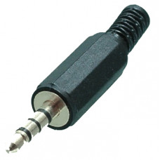 Штекер 3,5 мм 4С пластик на кабель