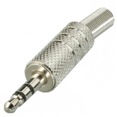 Штекер 3,5 мм cтерео металл  на кабель