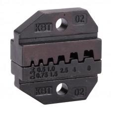 Номерные матрицы для обжима изолированных и неизолированных наконечников МПК-02