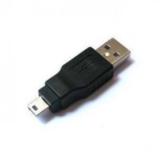 Переходник USB  гнездо А - штекер Mini 5 pin
