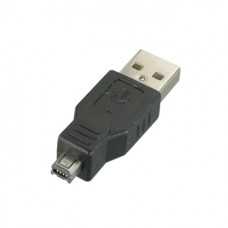 Переходник USB  штекер А - штекер Mini 4 pin