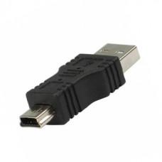 Переходник USB  штекер А - штекер Mini 5 pin