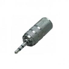 Переходник штекер 2,5 мм стерео - гнездо 3,5 мм стерео металл