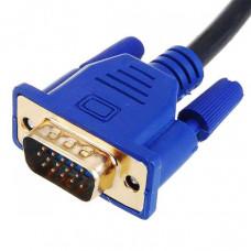 Кабель штекер VGA 15 pin - штекер VGA 15 pin GOLD  10,0 м с ферритами  ВВ