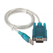 Переходник USB штекер А - штекер RS 232 DB 9 pin   L: 0,8 м