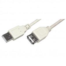 Кабель USB  штекер А - гнездо А  5,0 м   версия 1,1  PE