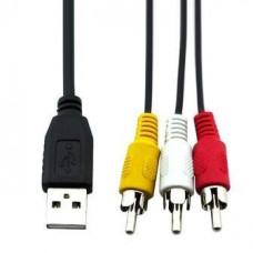 Кабель USB штекер А - 3 штекера RCA   1,5 м  BB