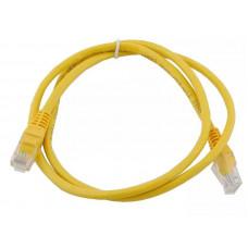 Кабель патч-корд  штекер 8р8с - штекер 8р8с UTP 5e    1,0 м желтый   PE