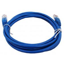 Кабель патч-корд  штекер 8р8с - штекер 8р8с UTP 5e    1,0 м синий   PE