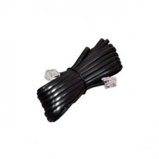 Кабель телефонный удлинитель 6р4с  2,0 м черный