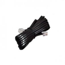Кабель телефонный удлинитель 6р4с 15,0 м черный