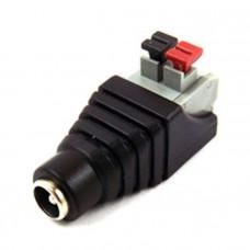 Разъем питания DC гнездо 2,1/5,5 мм быстрозажимной на кабель