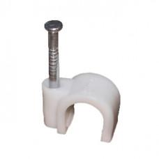 Крепеж кабеля круглый  8 мм (упак. 50 шт.)