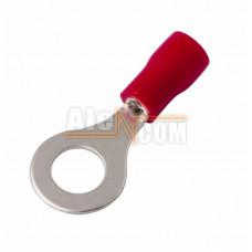 Наконечник кольцевой изолированный с ПВХ манжетой НКИ  1,5- 6 красный