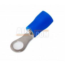 Наконечник кольцевой изолированный с ПВХ манжетой НКИ  2,5- 4 синий