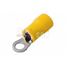 Наконечник кольцевой изолированный с ПВХ манжетой НКИ  6,0- 5 желтый