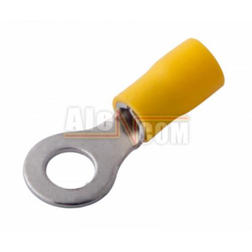 Наконечник кольцевой изолированный с ПВХ манжетой НКИ  6,0- 6 желтый