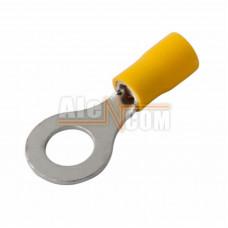 Наконечник кольцевой изолированный с ПВХ манжетой НКИ  6,0- 8 желтый
