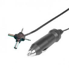 Авто шнур штекер DC (2,1/5,5 мм+2,5/5,5 мм+2,5 мм моно+3,5 мм моно) с прикуривателем