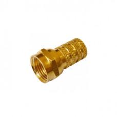 F - разъем RG - 6  золото