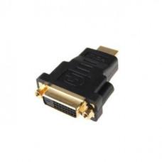 Переходник DVI-D гнездо - HDMI штекер GOLD   PVC
