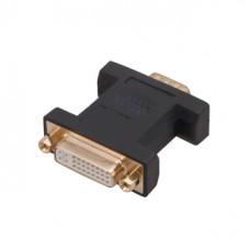 Переходник DVI-D гнездо - VGA штекер GOLD    PVC