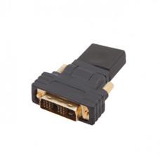 Переходник DVI-D штекер - HDMI гнездо GOLD    PVC