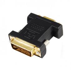 Переходник DVI-D штекер - VGA гнездо GOLD    PVC