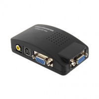 Конвертер VGA to AV (2 VGA гнезда+RCA гнездо+SVHS гнездо+DC гнездо)