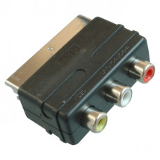 Переходник SCART штекер - 3 RCA гнезда  ( IN)
