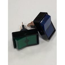 Переключатель, ASW-11D,   3с,    12в,   20А,    зеленый