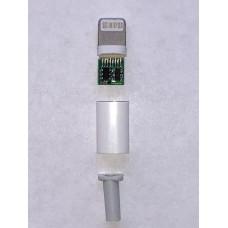 Штекер USB (8 pin Lightning) на кабель пластик разборный