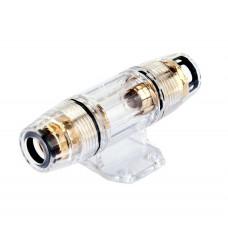 Держатель предохранителя на 1 AGU для кабеля 4GA(21мм2)-8GА (8мм2) прозрачный PVC