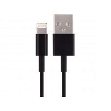 Шнур шт.USB - шт. Lightning ( iPhone 5/5S/5C)  1,0 м   черный