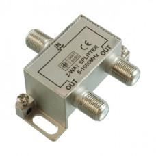 Антенный разветвитель на 2 TV 5-1000 MHz + 3 F разъема в коробочке