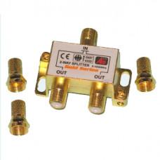 Антенный разветвитель на 2 TV 5-1000 MHz BOX GOLD