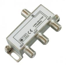 Антенный разветвитель на 3 TV 5-1000 MHz + 4 F разъема в коробочке