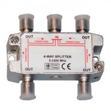 Антенный разветвитель на 4 TV 5-2500 MHz