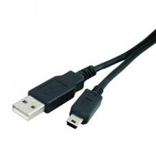 Кабель USB штекер А - штекер Mini 4 pin   1,5 м  PVC