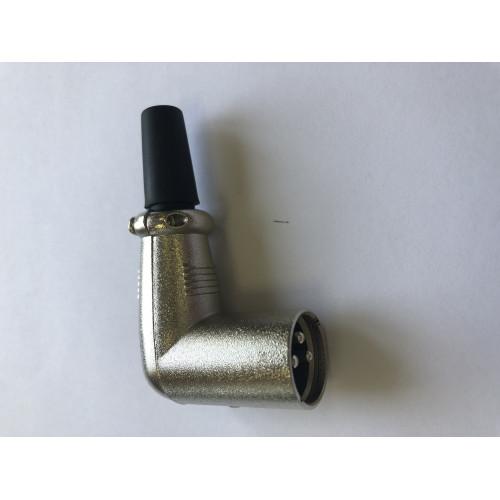 XLR штекер 3 pin угловой на кабель
