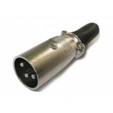 XLR штекер 3 pin на кабель