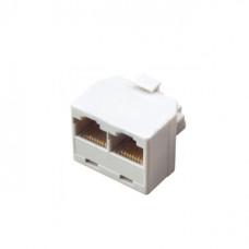 Переходник компьютерный штекер 8Р8С - 2 гнезда 8Р8С